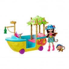 Набор Enchantimals Лодка из Джунглолеса Обезьянки Мерит (GFN58)