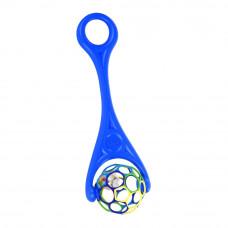 Каталка Oball 2 в 1 с мячом и погремушкой синяя (81091/81091-1)