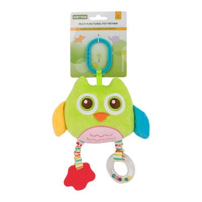 Подвеска-прорезыватель Baby Team Сова зеленая (8533/8533-1)