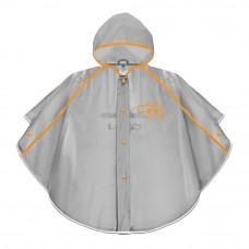 Дождевик-пончо Cool Kids из ПВХ серо-оранжевый на 3-4 года (15543/3-4)