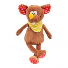 Мягкая игрушка Devilon Мышка с платком коричневая 26 см (M1807526B-1)