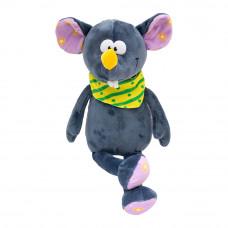 Мягкая игрушка Devilon Мышка с платком серая 26 см (M1807526B-2)