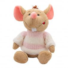 Мягкая игрушка Devilon Мышка в свитере с розовыми полосками 29 см (M1810029B 1)