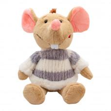 Мягкая игрушка Devilon Мышка в свитере с серыми полосками 29 см (M1810029B 2)