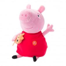 Мягкая игрушка Peppa Pig Пеппа с игрушкой 30 см звуковая (30117)