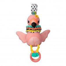 Мягкая игрушка Infantino Hug and tug Фламинго музыкальная (216246I)