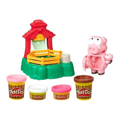 Набор для лепки Play-Doh Веселая мама-свинка (Е6723)