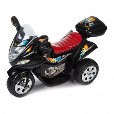Электромотоцикл Babyhit Маленький гонщик черный с эффектами (71628)