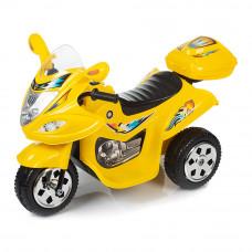 Электромотоцикл Babyhit Маленький гонщик желтый с эффектами (71627)