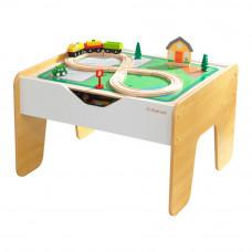 Набор KidKraft Железная дорога и конструктор с игровым столом 2 в 1 (10039)