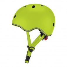 Защитный шлем Globber Evo light зеленый с фонариком 45-51 см (506-106)