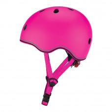 Защитный шлем Globber Evo light розовый с фонариком 45-51 см (506-110)