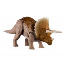 Фигурка динозавра Jurassic world Опасные противники Трицератопс со звуком (GJN64)