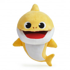 Мягкая игрушка Baby shark Маленький акуленок музыкальная на руку (61181)