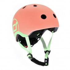 Детский шлем Scoot & Ride Персик 51 – 55 см с фонариком (SR-181206-PEACH_S)