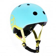 Детский шлем Scoot & Ride Голубика 51 – 55 см с фонариком (SR-181206-BLUEBERRY_S)