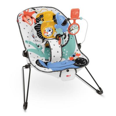 Кресло-колыбель Fisher-Price Веселые друзья малыша массажное (GNR00)