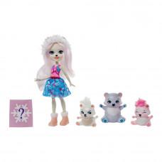 Кукольный набор Enchantimals Семья белой медведицы Пристины с сюрпризом (GJX43/GJX47)