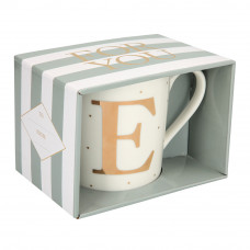 Чашка Top Model с буквой E 300 мл фарфоровая (045909/29)