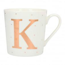 Чашка Top Model с буквой K 300 мл фарфоровая (045909/35)