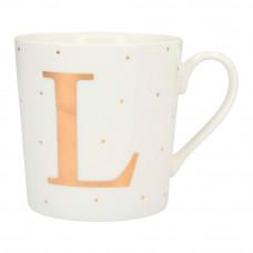 Чашка Top Model с буквой L 300 мл фарфоровая (045909/36)
