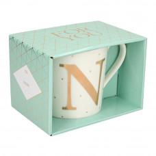 Чашка Top Model с буквой N 300 мл фарфоровая (045909/38)