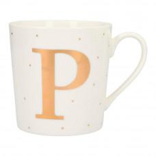 Чашка Top Model с буквой P 300 мл фарфоровая (045909/39)