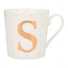 Чашка Top Model с буквой S 300 мл фарфоровая (045909/41)