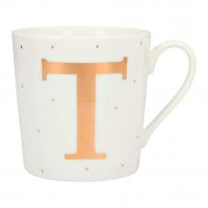 Чашка Top Model с буквой T 300 мл фарфоровая (045909/42)