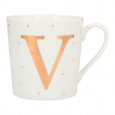 Чашка Top Model с буквой V 300 мл фарфоровая (045909/43)