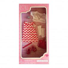 Одежда для куклы Lori Красно-белый наряд (LO30009Z)