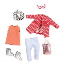 Одежда для куклы Lori Красный жакет в белый горошек (LO30014Z)