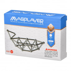 Магнитный конструктор Magplayer Палочки и шарики 66 элементов (MPS-66)