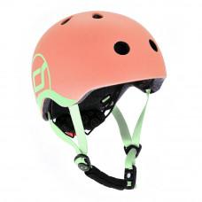 Защитный шлем Scoot & Ride Персиковый 51-55 см с фонариком (SR-190605-PEACH)