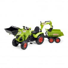 Веломобиль Falk Трактор Claas зеленый (1010W)
