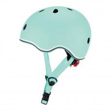 Защитный шлем Globber Go Up Lights зеленый 45-51 см с фонариком (506-206)