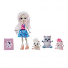 Набор-сюрприз Enchantimals Семья белой медведицы Пристины (GJX47)