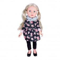 Кукла Lotus с аксессуарами для путешествий в черном платье с цветами (6004952/18899/1-1)