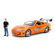 Машина Jada Форсаж Тойота Супра с фигуркой Брайана 1:24 (253205001)