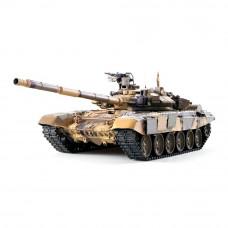 Игрушечный танк Heng Long Т-90 с пневмопушкой и дымовым эффектом на радиоуправлении 1:16 (HL3938-1Upg)