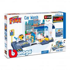 Игровой набор Bburago Автомойка с автомоделью 1:43 (18-30406)