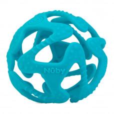 Прорезыватель Nuby Мяч силиконовый голубой (6836/6836aqua)