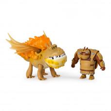 Набор Dragons Как приручить дракона 3 Дракон Сарделька и всадник Рыбоног (SM66621/6356)
