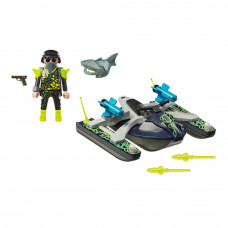 Конструктор Playmobil Top agents Водный скутер команды Акула (70007)
