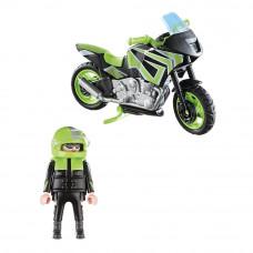 Конструктор Playmobil Мотоцикл с мотоциклистом (70204)