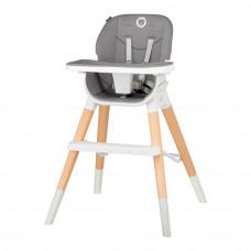 Стульчик для кормления Lionelo Mona 4 в 1 серый (5902581659125)