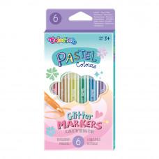 Фломастеры Colorino Pastel с блестками 6 цветов (82565PTR)