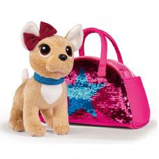 Мягкая игрушка Chi Chi Love Чихуахуа Звезда с изменяющей цвет сумкой 20 см (5893401)