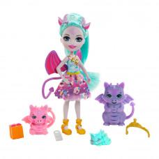 Кукольный набор Enchantimals Royal Семья драконицы Дианы (GYJ09)