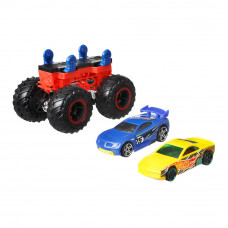 Набор машинок Hot Wheels Monster trucks Создатель монстров желтая и синяя 1:64 (GWW13/GWW14)